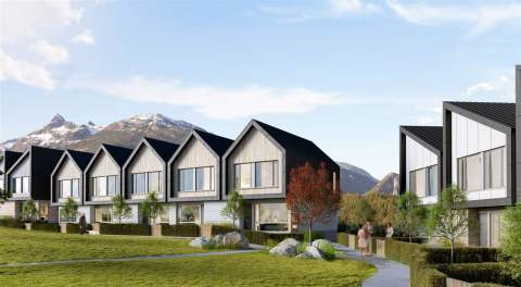 Talus At Holborn University Heights Is A Collection Of Modern Townhomes Located In Squamish, BC.