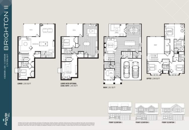 Brighton II floorplan for Argyle Burke Mountain subdivision.