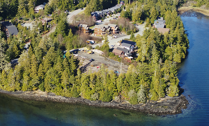 The development at this waterfront location will consist of modern cottages and condo suites.