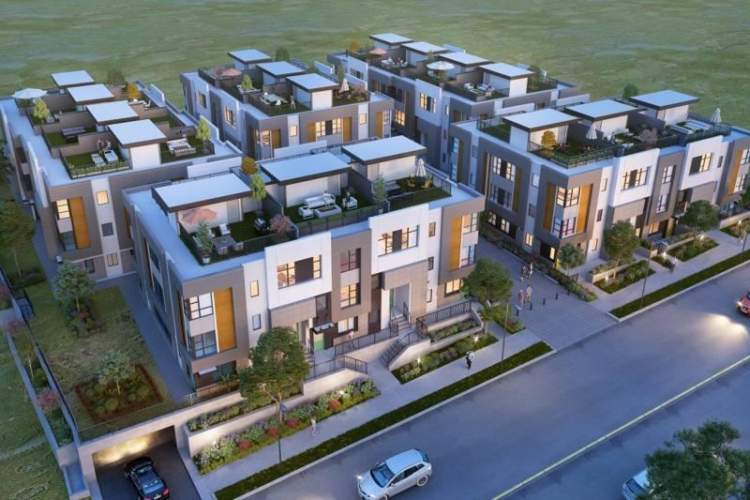 Unity offers 66 townhomes within walking distance to UFV, Abbotsford Sports and Entertainment Centre