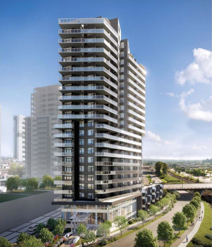 A collection of 164 well-appointed homes in a 22-storey concrete tower and podium.
