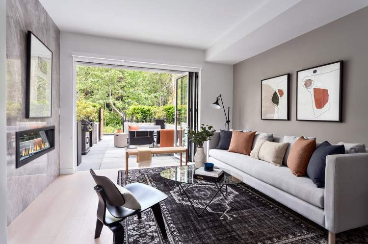 Homes boast private back yards, premium appliances, refined interiors, and sophisticated architecture.
