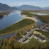 Water's Edge is a new townhome development located between the north face of Chilliwack mountain and the Fraser River.