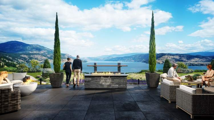 This outdoor lounge exemplifies the best of our Okanagan lifestyle.