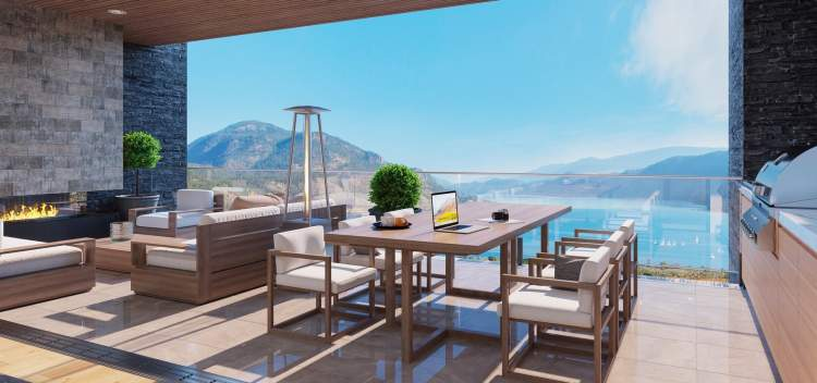 Enjoy an exceptional outdoor room where you and your guests will relax and enjoy the best of outdoor living in the Okanagan.