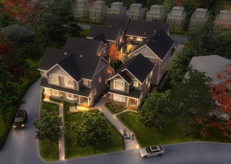 Brock House consists of eight luxury duplexes and two single-family homes.