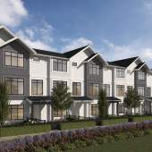 A new Frasier Heights community in Surrey of 77 farmhouse-inspired townhomes.