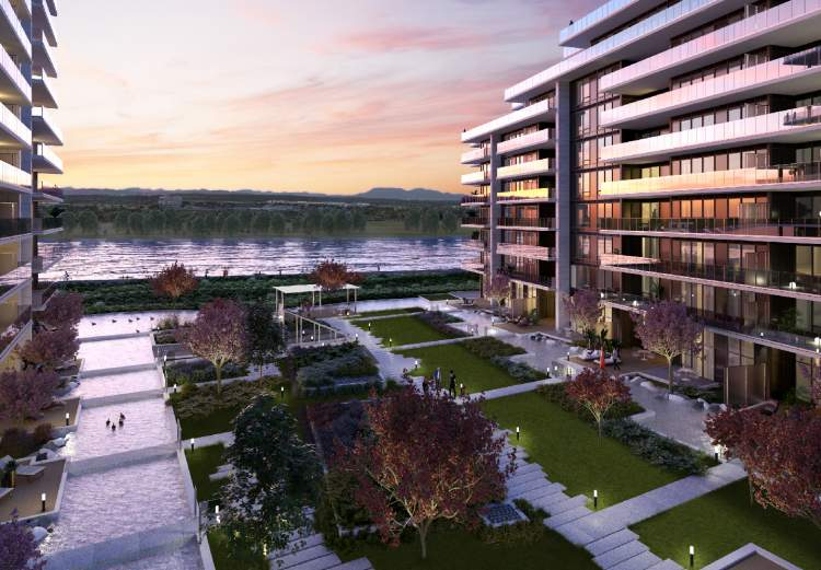 Hollybridge is designed to welcome nature into the very heart of the development.