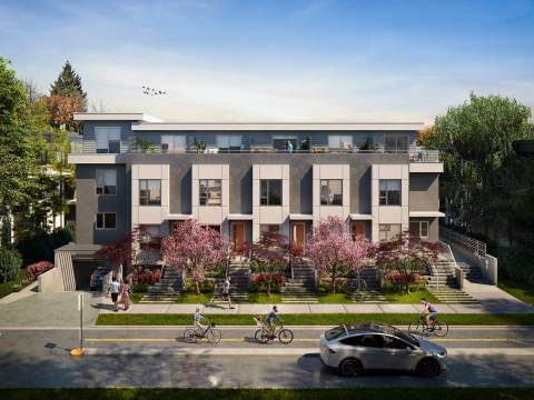 A Boutique Collection Of 12 3-bedroom Townhomes In The Heart Of Kitsilano.