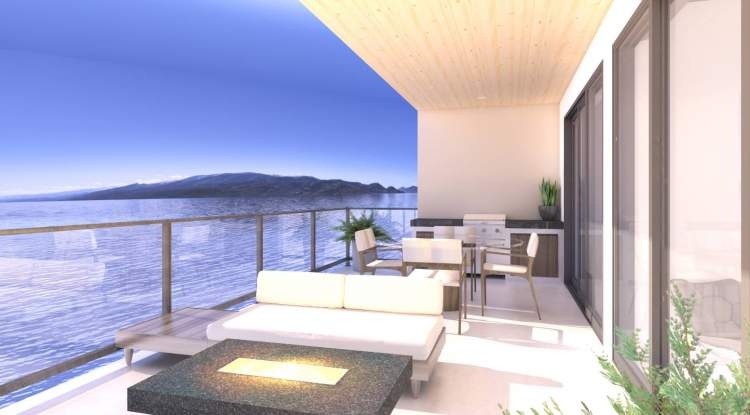 Enjoy unimpeded 180-degree views of Lake Okanagan that will never be blocked.