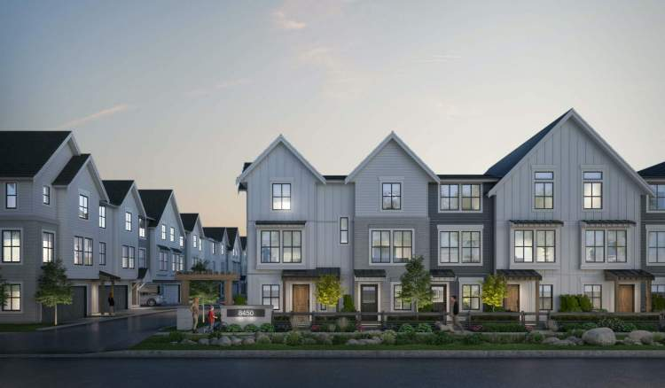 2-, 3- & 4-bedroom townhomes now Selling in Yorkson, Langley.