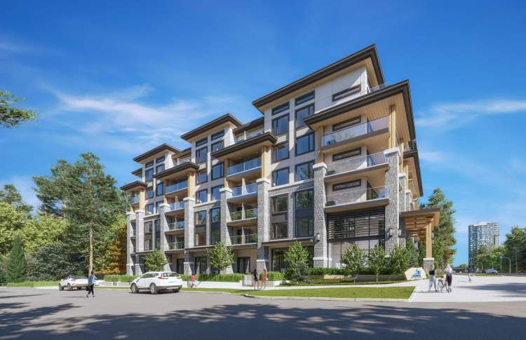 Surrey Central's newest development, offering a combination of street-level townhomes and residential condominiums.