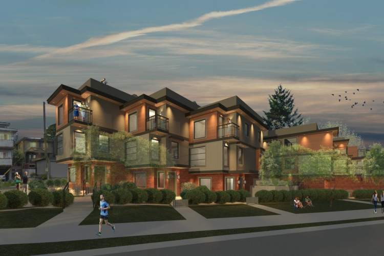 Six townhomes located two blocks from the Lonsdale corridor's shops, services, and transit.