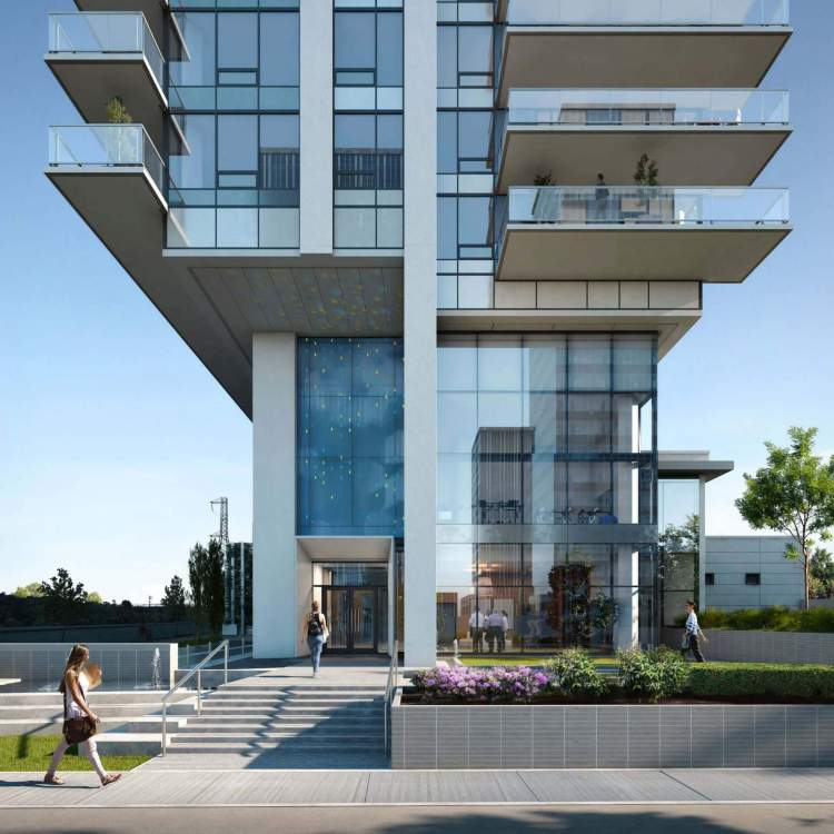 Tailor is a sleek, 27-storey tower with a sculpted base.