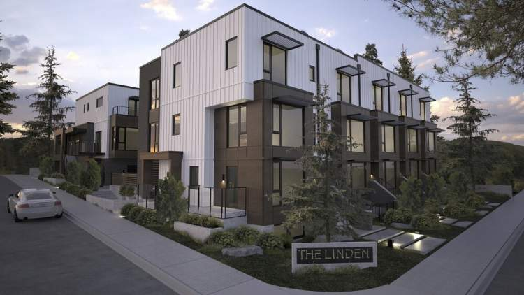 A collection of 10 environmentally conscious townhomes in Moodyville, North Vancouver.