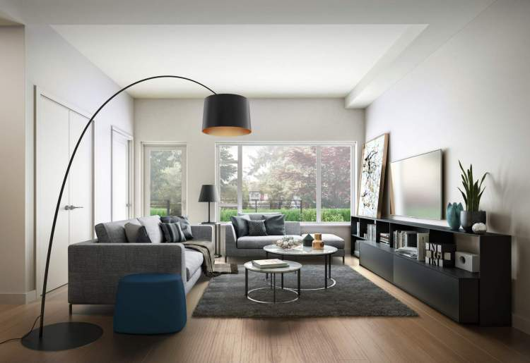 An open-concept living space welcomes light and air to circulate throughout the heart of the home.