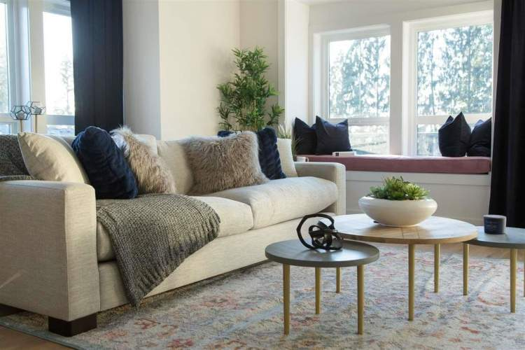Inside, you'll find clean lines, neutral palettes and bright, multifunctional living spaces.