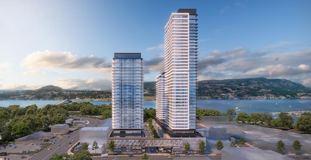 Three Modern Residential Towers Designed To Re-energize Kelowna's Downtown Core.