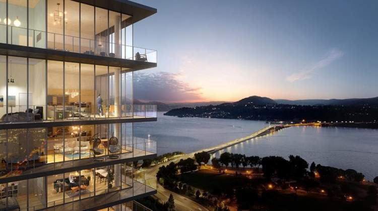 Some homes will feature stunning lake and city views.