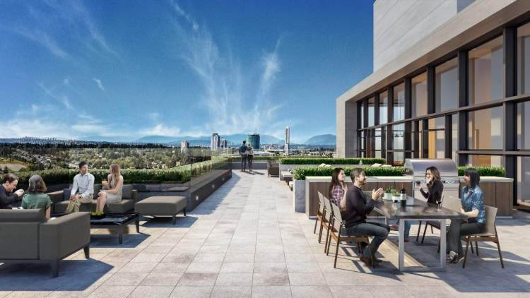 At the apex rests the rooftop lounge, an outdoor social space, sun deck, and dining area.