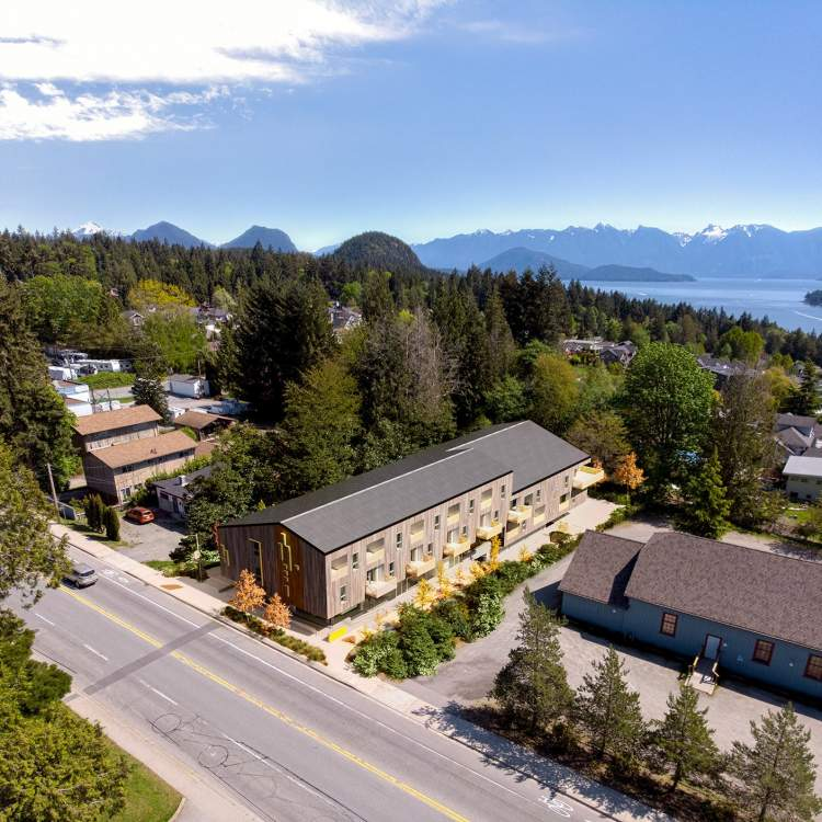 Driftwood is located at North Road and Gibsons Way — the gateway between Lower and Upper Gibsons.