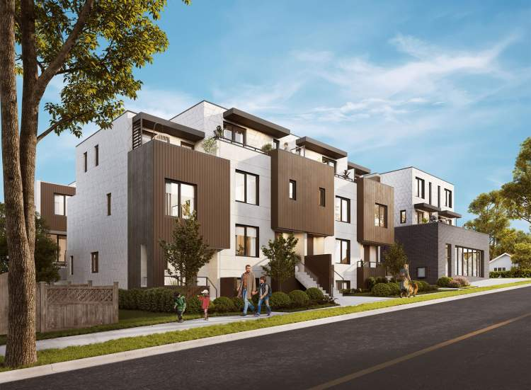 Lakewood is a collection of 1- to 4-storey homes in 3 buildings with a single commercial unit.