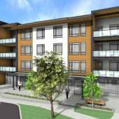 A new mixed-use developent in Parksville offering 29 condominiums and ground floor commercial space.