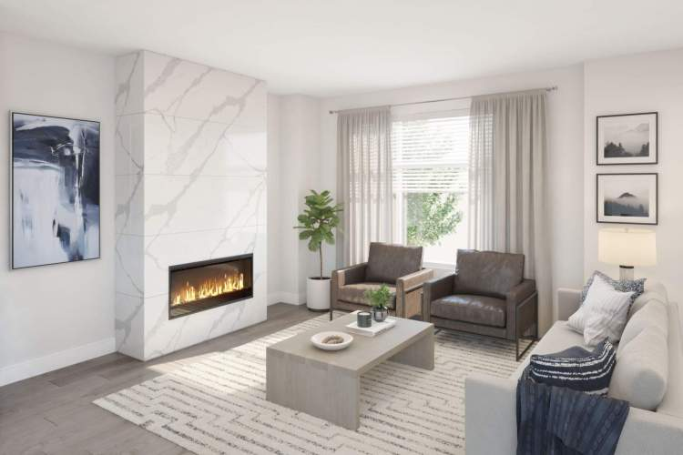 High ceilings, open concept spaces, and large window create interiors that are airy and bright.