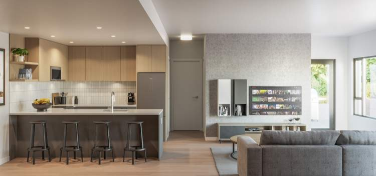 Q5 offers a selection of studio, 1-, 2-, & 3-bedroom homes.