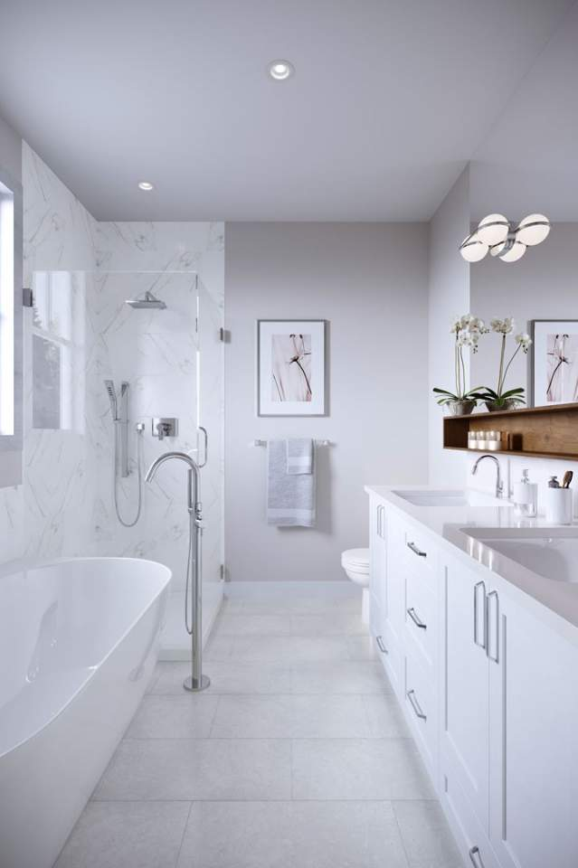 Relax in your luxurious en suite with its deep soaker tub.