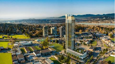 Perched On A Glass-encased Podium, This 46-storey Tower Is The Second-tallest Building In Surrey.