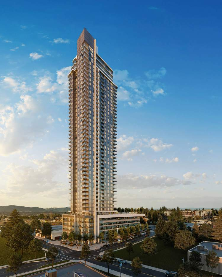 An iconic highrise offering 415 condominiums, coming soon to Surry City Centre.