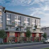 An urban collection of artisan spaces and loft-style homes in Squamish's Downtown South.