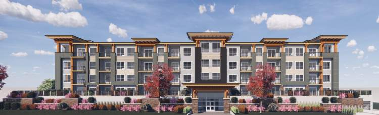 A new 4-storey, 60-unit condominium development coming soon to Downtown Chilliwack.