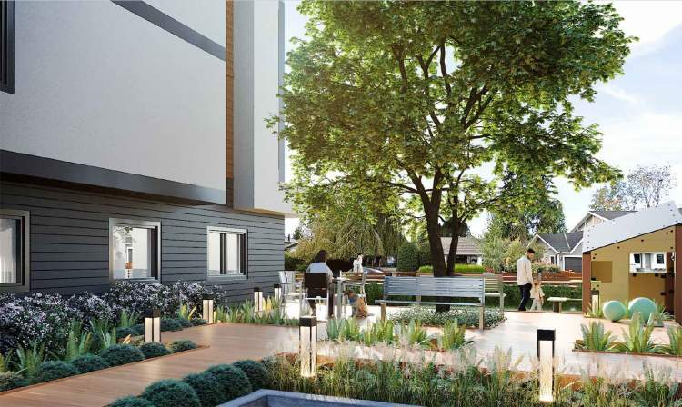 Residents can enjoy shared use of a 1,000-sq-ft community deck.