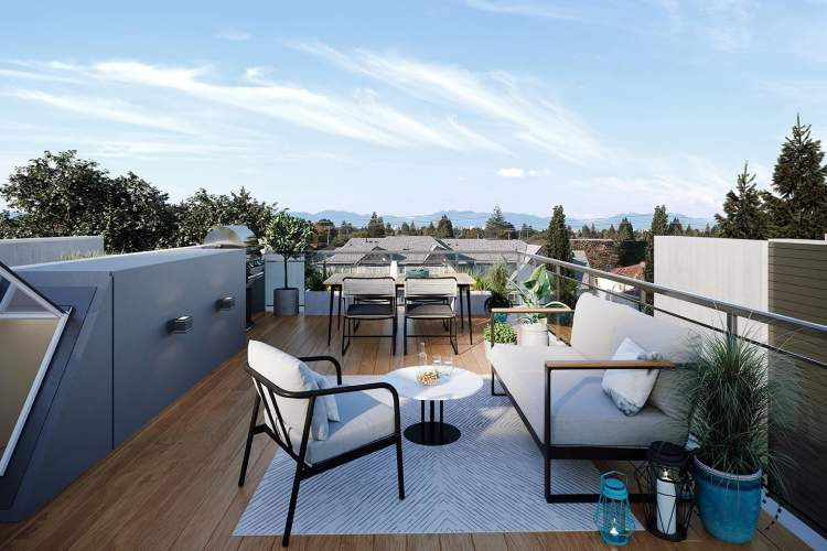 Access your private rooftop patio with an automatic door.