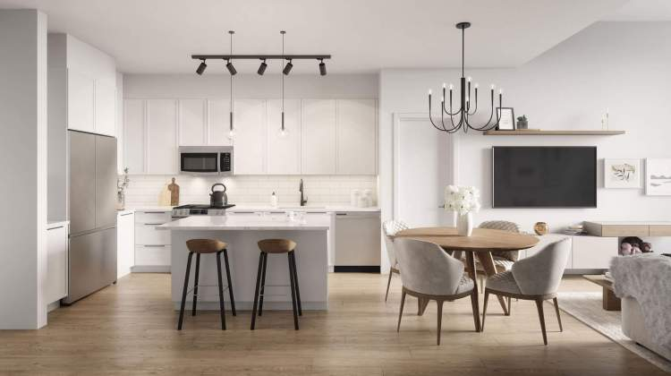 Family-friendly kitchens feature big islands, plenty of cabinetry, and sturdy stainless steel appliances.