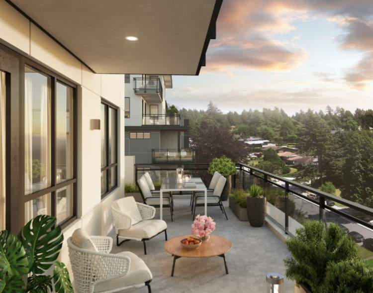 Every home features outdoor patio/deck space with aluminium and clear glass guardrail.