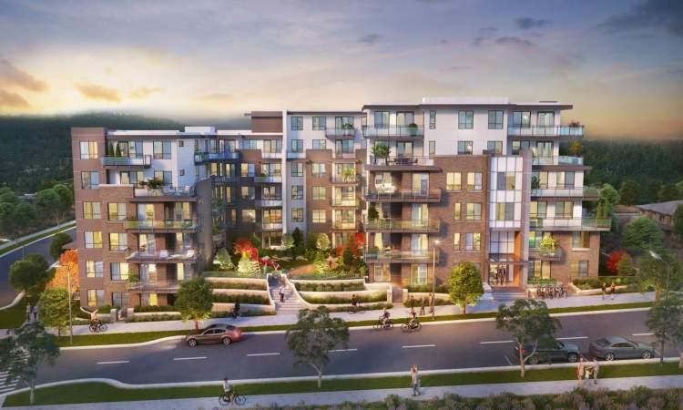 128 Burquitlam homes in studio, 1-, 2- and 3-bedroom layouts.