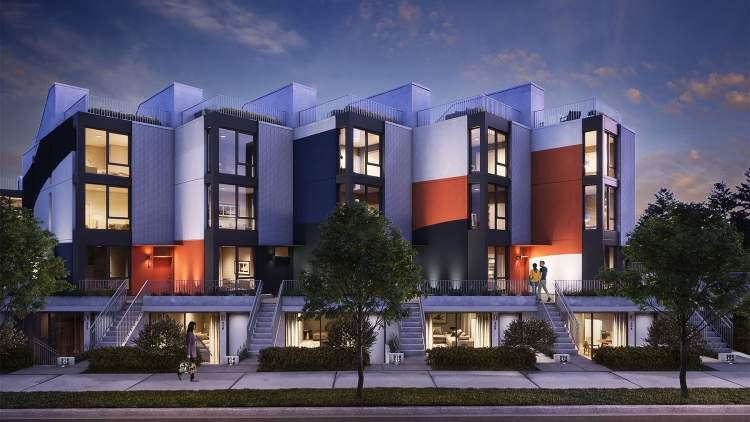 Urban 1-bedroom garden flats and courtyard townhomes.