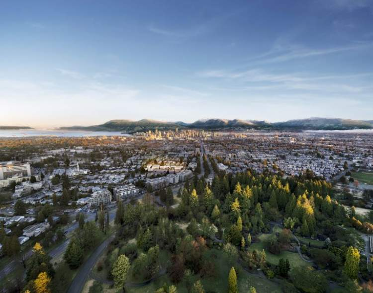 Cambie Corridor townhomes from Intergulf Development located across from Queen Elizabeth Park.
