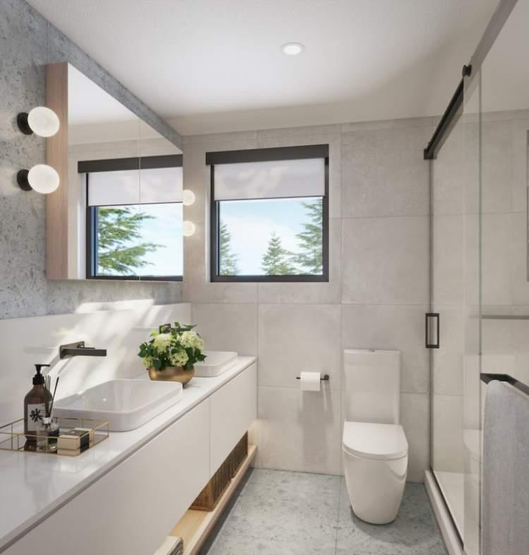 Artist render of Lilibet bathroom.