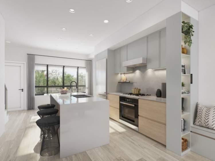 Artist render of Lilibet kitchen.