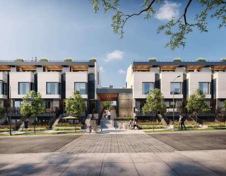 A Collection Of 63 Contemporary, Park-side Townhomes In Moodyville, North Vancouver.