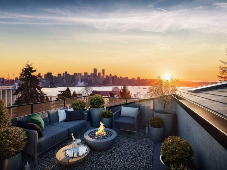Larger homes have rooftop decks designed to capitalize on incredible southern views and the North Shore mountains.