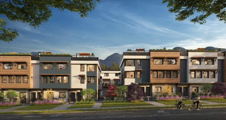 A new collection of 27 passive house townhomes coming soon to Moodyville.