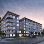 This striking 6-storey building features 80 x 1- & 2-bedroom suites.