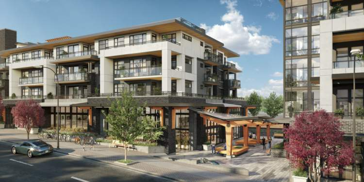Convenient street level shops and amenities with courtyard and breezeway.
