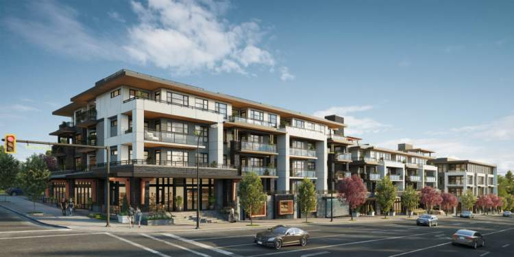 A 5-story conrete & steel building in Capitol Hill with studio, 1-, 2- & 3-bedroom condos.