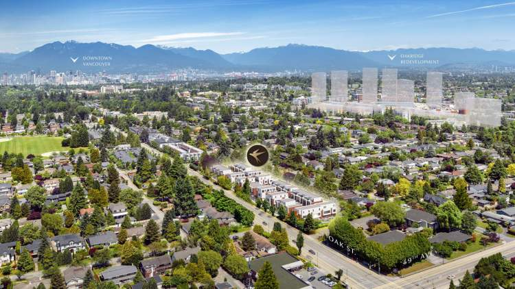 Located in the Oakridge neighbourhood on Vancouver's West Side, close to prime shopping.